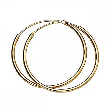Anfänge Sterling Silber H246 Yell Gold 30mm X 1,5 mm Creolen
