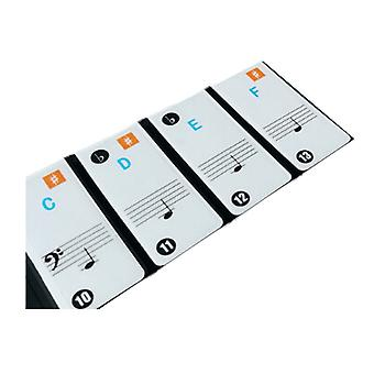 Piano key sticker Transparent Removable for 37 /49 /61 /88 X-01W