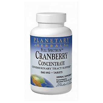 Planetary Herbals Full Spectrum Cranberry Concentrate, 560 mg, 90 Tabs