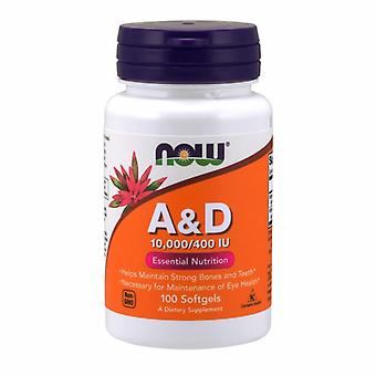 Now Foods Vitamin A & D, 10000/400, 100 Sgels