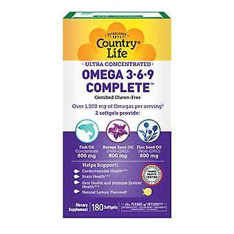 Country Life Erittäin keskittynyt Omega, 180 Softgels