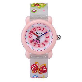 Impermeable luminoso LED Digital Touch Reloj de niños - Mariposa blanca