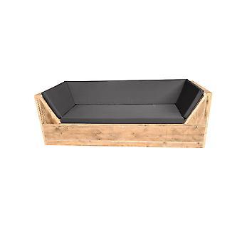 Wood4you - Phoenix Gerüst-Lounge-Bank 210Lx70Hx80D cm