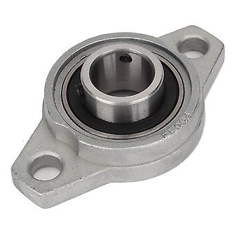 20mm ID Miniature Zinc Alloy Pillow Block Bearings Flange