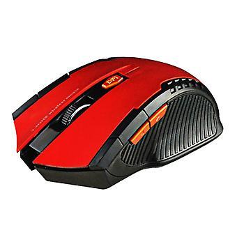 Stuff Certified® Wireless Gaming Mouse Optical - Ambidextrous ja Ergonominen DPI-säädöllä - 1600 DPI - 6 painiketta - Punainen