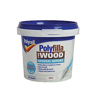 Polycell Polyfilla puun yleiskorjauksiin Valkoinen palju 380g PLCWGRWH380