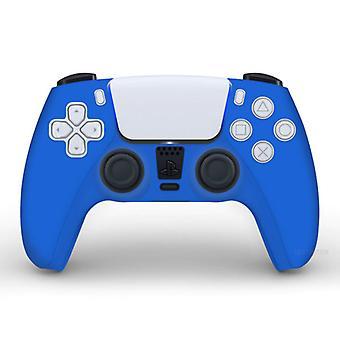 الاشياء المعتمدة® المضادة للانزلاق كم / الجلد لبلاي ستيشن 5 وحدة تحكم القضية - قبضة غطاء PS5 - أزرق