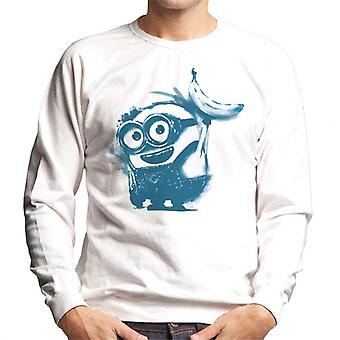 Despicable Me Bob The Minion Banana Art Men's Sweatshirt
