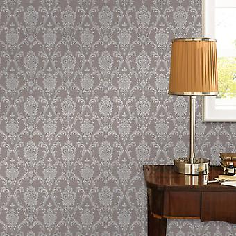 Wallpaper Rolls 4 pcs. Taupe 0.53×10 m Ornament Busy