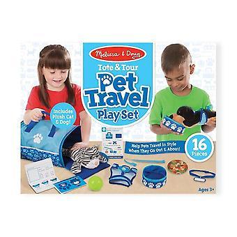Melissa y Doug Tote & Tour Pet Travel Play Set
