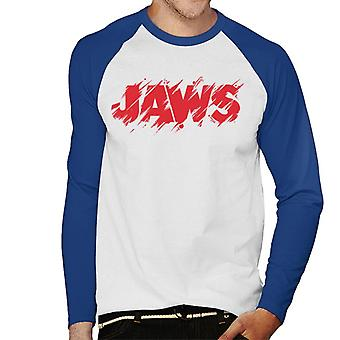 Jaws Vintage Bitten Logo Men's Baseball Long Sleeved T-Shirt
