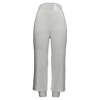 Mujeres con control mujeres's pantalones Pull-On Pintuck Crop blanco A306462