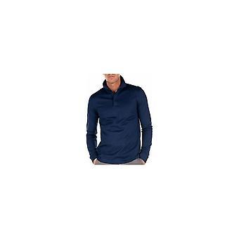 هوغو بوس Pleins 15 طويل الأكمام القطن الأزرق بولو قميص