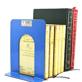 Foldable Portable, Metal Bookends Shelf Holder For Home Stationery, Library,