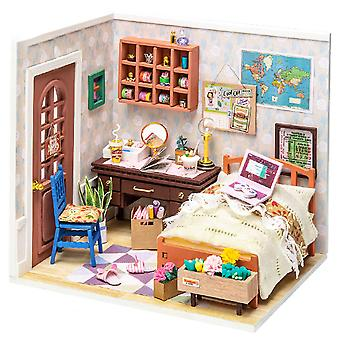 Annie's bedroom model is assembled by DIY