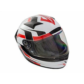 GSB G-335 Full Face Road Motorcycle Helmet Rouge Graphique Noir Blanc