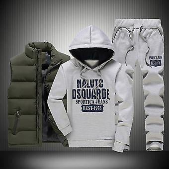 Mens Winter Tracksuits Casual Sportswear Sudaderas, Sweatpants Set