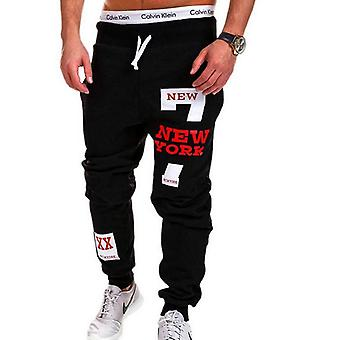 Men Letter Print Sweatpants, Joggers Loose Hip Hop Casual Trousers