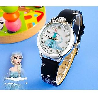 Princess Kids Watches Leather Strap Cartoon Wristwatches