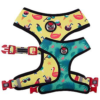 Oui Oui Frenchie Reversible Harness - Pool Party