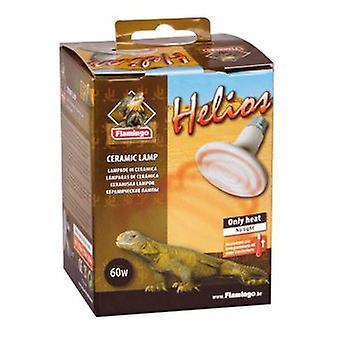 Flamingo Helios keraaminen lamppu 60W (matelijat, lämmittimet, valaisimet)