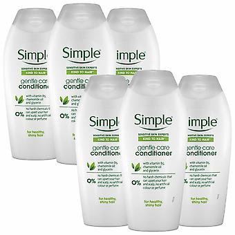 Simple Kind to Hair Gentle Care Conditioner, 6 Packs of 400ml
