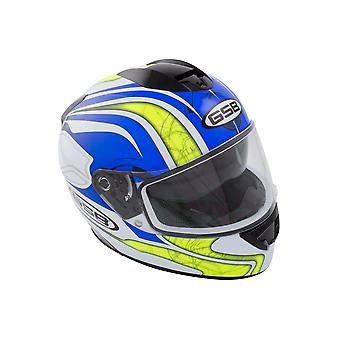 GSB G-350 ADULT FULL FACE ROAD HELMET GRAPHIC BLUE GLOSS