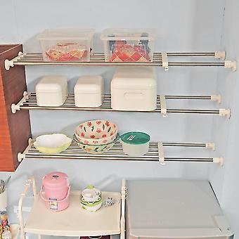 BAOYOUNI DIY Adjustable Closet Shelf Scalable Storage Rack Heavy Duty Stainless Steel Organizer