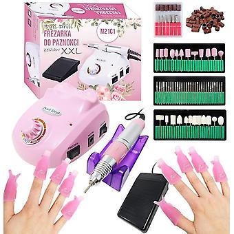 Nagel manicure - nagelfrees roze - 128-delig- nagelvijl