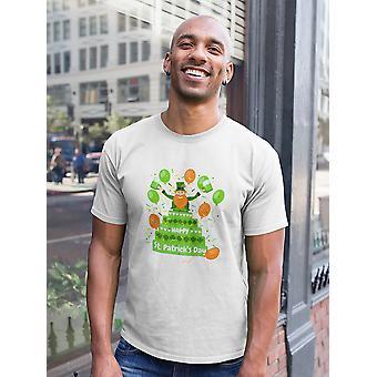 Happy St Patricks Day Cake Koszulka męska-obraz przez Shutterstock
