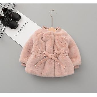 Baby Kleidung Winter Dicken warmJacke Nerz Fleece Jacke Prinzessin Wolle