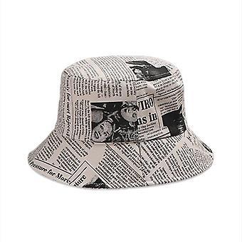 Chapéus de balde de verão mulheres homens'panamá duplo-sided wear fisherman cap