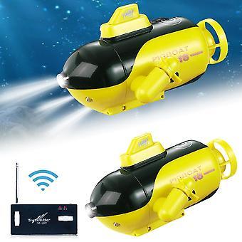 التحكم عن بعد اللاسلكية، غواصة السفينة الكهربائية، لعبة قارب المياه ل (الأصفر)