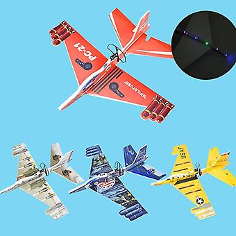 Electric Glider- Hand Throwing Plane, Model Aircraft With Led Light Game