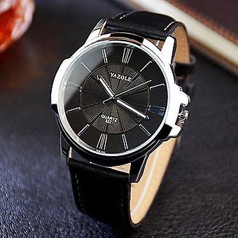 YAZOLE 332 Moda Prosty styl biznes mężczyźni zegarek na rękę skórzany zegarek kwarcowy