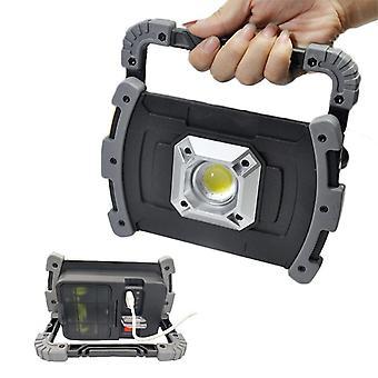 20W COB LED ポータブルワークライトUSB屋外キャンプランタンIPX6防水ランプサーチライト