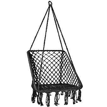 Sedia sospesa antracite - sedia nido - 65x50 cm - fino a 150 kg