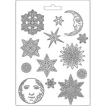 Stamperia Zachte schimmel A4 sneeuwvlokken