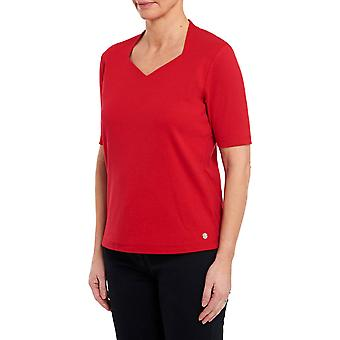 PENNY PLAIN Red High Back Sweet Heart Neck Top