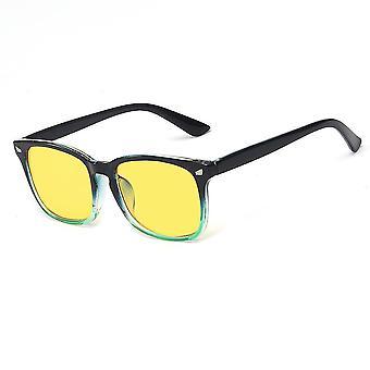 Vision flache Brille Anti-Blau Rahmen Gläser mit Brille Fall
