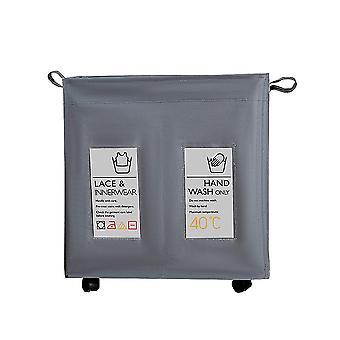 ماء حقيبة سلة الغسيل قابلة للطي، الملابس القذرة سلة تخزين مع عجلات، غرفة نوم الحمام