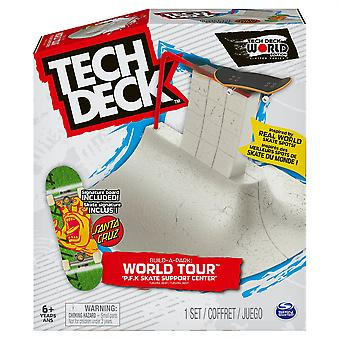 Tech Deck Build a Park World Tour Japan P.F.K Skate Support Center & Santa Cruz Signature Board
