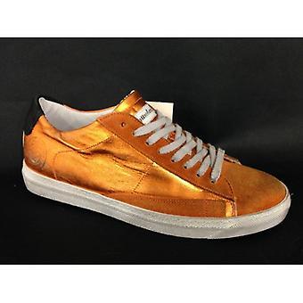 Shoes Women's Sneaker Bass 4/12 Quattrobarradodici Foil Orange D14me08