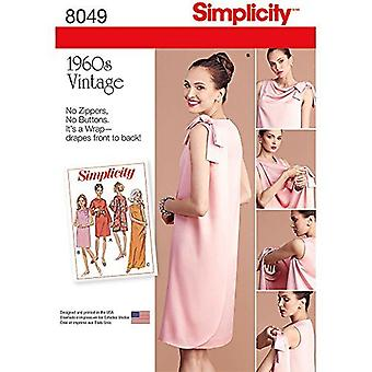 Yksinkertaisuus Ompelu kuvio 8049 Misses 1960 Vintage Mekko Koko 8-16