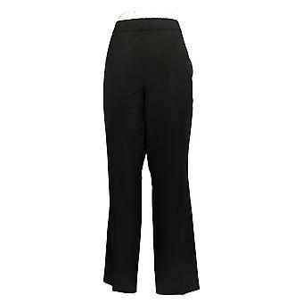 Susan Graver Women's Pants Regular Chelsea stretch Pull-On Blk A387790