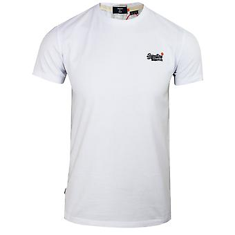 Superdry men's optic embroidered logo t-shirt