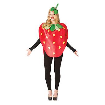 Adult Strawberry Fruit Food Fancy Dress Costume