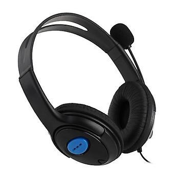 Kablet gaming headset bilateral hodetelefon med mikrofon for PS4 PlayStation 4 PC