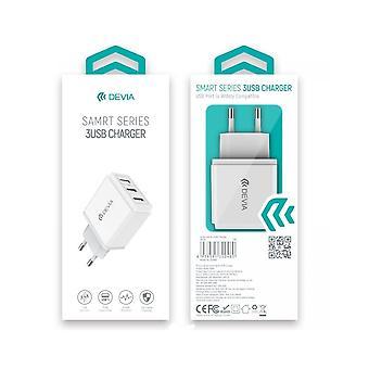 Adapter Oplaadstekker met 3 USB Poorten