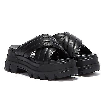 Buffalo Aspha Slide Womens Black Sandals